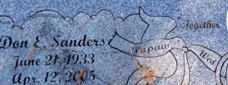SANDERS, DON EDGIN - Franklin County, Arkansas | DON EDGIN SANDERS - Arkansas Gravestone Photos