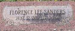 SANDERS, FLORENCE LEE - Franklin County, Arkansas | FLORENCE LEE SANDERS - Arkansas Gravestone Photos