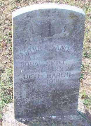 SANDERS, MARTHA ELLEN - Franklin County, Arkansas | MARTHA ELLEN SANDERS - Arkansas Gravestone Photos