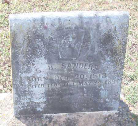 SANDERS, SAMUEL B - Franklin County, Arkansas | SAMUEL B SANDERS - Arkansas Gravestone Photos