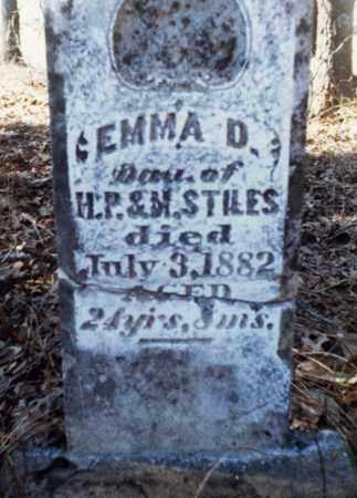 STILES, EMMA D - Franklin County, Arkansas | EMMA D STILES - Arkansas Gravestone Photos