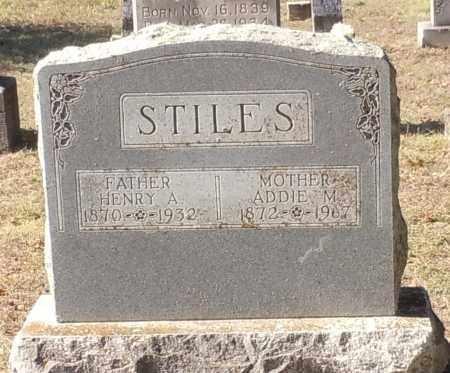 STILES, ADDIE M - Franklin County, Arkansas | ADDIE M STILES - Arkansas Gravestone Photos