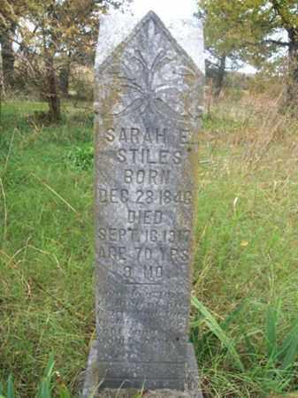 STILES, SARAH E - Franklin County, Arkansas | SARAH E STILES - Arkansas Gravestone Photos