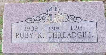 THREADGILL, RUBY K - Franklin County, Arkansas   RUBY K THREADGILL - Arkansas Gravestone Photos