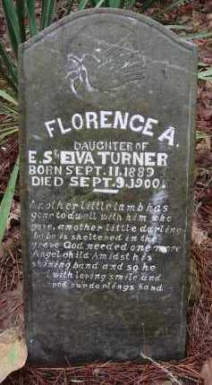 TURNER, FLORENCE A - Franklin County, Arkansas | FLORENCE A TURNER - Arkansas Gravestone Photos