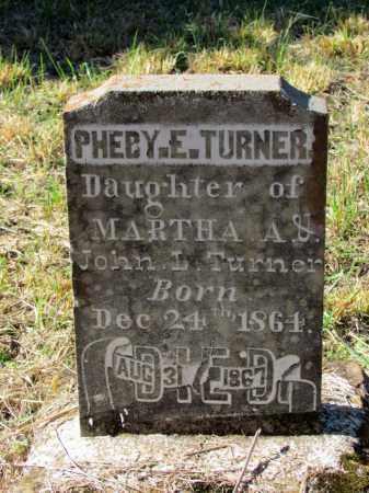 TURNER, PHEBY E - Franklin County, Arkansas | PHEBY E TURNER - Arkansas Gravestone Photos