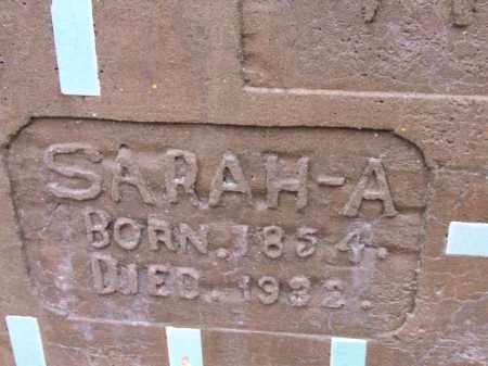 WHITE, SARAH A (CLOSE UP) - Franklin County, Arkansas | SARAH A (CLOSE UP) WHITE - Arkansas Gravestone Photos