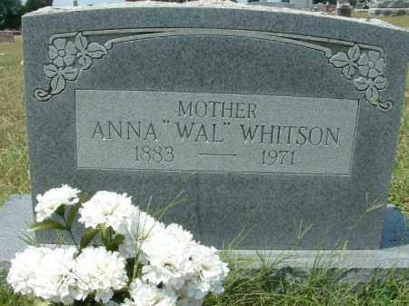 "WHITSON, ANNA ""WAL"" - Franklin County, Arkansas | ANNA ""WAL"" WHITSON - Arkansas Gravestone Photos"