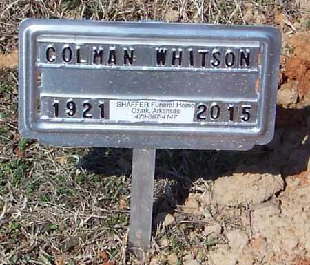 WHITSON, COLMAN DEE - Franklin County, Arkansas | COLMAN DEE WHITSON - Arkansas Gravestone Photos