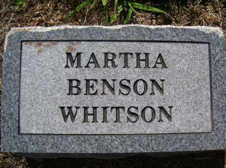 WHITSON, MARTHA - Franklin County, Arkansas | MARTHA WHITSON - Arkansas Gravestone Photos
