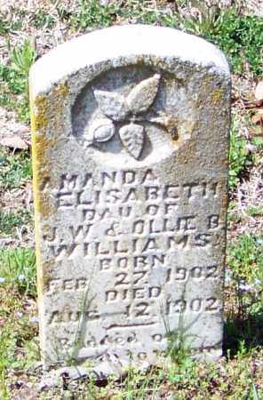WILLIAMS, AMANDA ELISABETH - Franklin County, Arkansas | AMANDA ELISABETH WILLIAMS - Arkansas Gravestone Photos