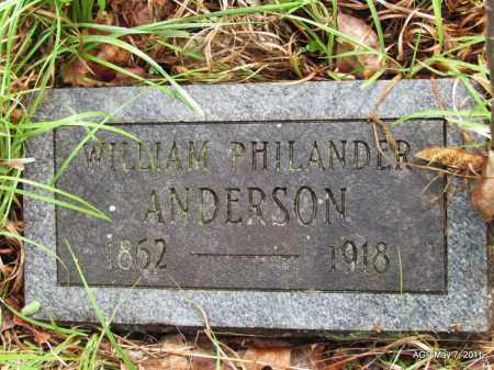 ANDERSON, WILLIAM PHILANDER - Fulton County, Arkansas   WILLIAM PHILANDER ANDERSON - Arkansas Gravestone Photos