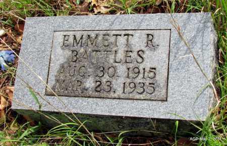 BATTLES, EMMETT R - Fulton County, Arkansas   EMMETT R BATTLES - Arkansas Gravestone Photos