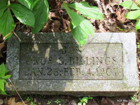 BILLINGS, OKUS G - Fulton County, Arkansas   OKUS G BILLINGS - Arkansas Gravestone Photos