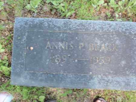 BLACK, ANNIS P - Fulton County, Arkansas | ANNIS P BLACK - Arkansas Gravestone Photos