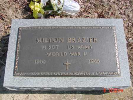 BRAZIER (VETERAN WWII), MILTON - Fulton County, Arkansas | MILTON BRAZIER (VETERAN WWII) - Arkansas Gravestone Photos