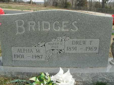 BRIDGES, ALPHA M. - Fulton County, Arkansas   ALPHA M. BRIDGES - Arkansas Gravestone Photos
