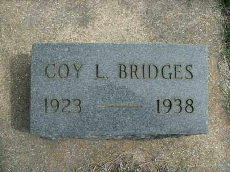 BRIDGES, COY L. - Fulton County, Arkansas | COY L. BRIDGES - Arkansas Gravestone Photos