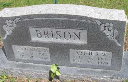 BRISON, ARTHUR W - Fulton County, Arkansas | ARTHUR W BRISON - Arkansas Gravestone Photos