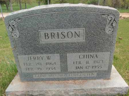 BRISON, JERRY W - Fulton County, Arkansas | JERRY W BRISON - Arkansas Gravestone Photos