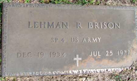 BRISON (VETERAN), LEHMAN R - Fulton County, Arkansas | LEHMAN R BRISON (VETERAN) - Arkansas Gravestone Photos