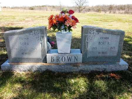 BROWN, BERT A. - Fulton County, Arkansas | BERT A. BROWN - Arkansas Gravestone Photos