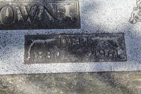 BROWN, DELL (CLOSE-UP) - Fulton County, Arkansas | DELL (CLOSE-UP) BROWN - Arkansas Gravestone Photos