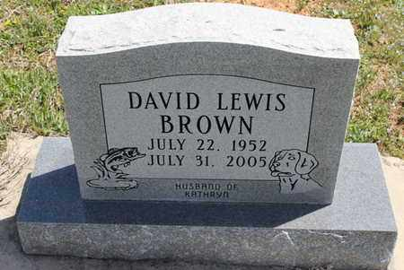 BROWN, DAVID LEWIS - Fulton County, Arkansas | DAVID LEWIS BROWN - Arkansas Gravestone Photos