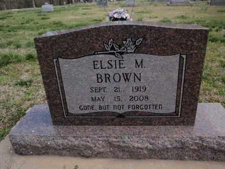 BROWN, ELSIE M - Fulton County, Arkansas | ELSIE M BROWN - Arkansas Gravestone Photos