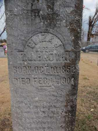 BROWN, ELIZA J. - Fulton County, Arkansas   ELIZA J. BROWN - Arkansas Gravestone Photos