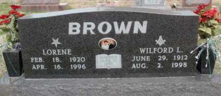 BROWN, WILFORD L. - Fulton County, Arkansas | WILFORD L. BROWN - Arkansas Gravestone Photos