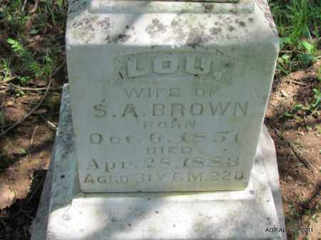 BROWN, LOU (CLOSE UP) - Fulton County, Arkansas | LOU (CLOSE UP) BROWN - Arkansas Gravestone Photos