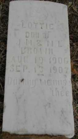BROWN, LOTTIE - Fulton County, Arkansas | LOTTIE BROWN - Arkansas Gravestone Photos