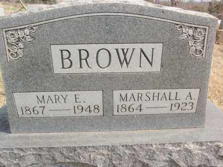 BROWN, MARSHALL A. - Fulton County, Arkansas | MARSHALL A. BROWN - Arkansas Gravestone Photos