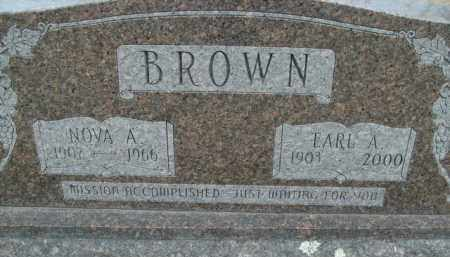 BROWN, NOVA A. - Fulton County, Arkansas | NOVA A. BROWN - Arkansas Gravestone Photos