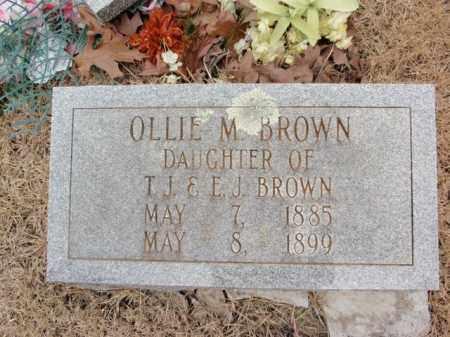 BROWN, OLLIE M. - Fulton County, Arkansas   OLLIE M. BROWN - Arkansas Gravestone Photos