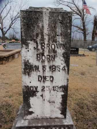 BROWN, T.J. - Fulton County, Arkansas | T.J. BROWN - Arkansas Gravestone Photos