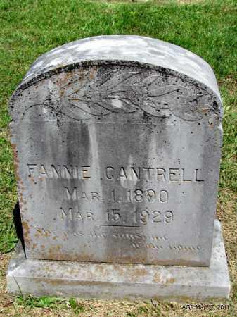CANTRELL, FANNIE - Fulton County, Arkansas | FANNIE CANTRELL - Arkansas Gravestone Photos