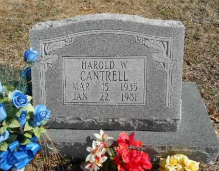 CANTRELL, HAROLD WILLIAM - Fulton County, Arkansas | HAROLD WILLIAM CANTRELL - Arkansas Gravestone Photos