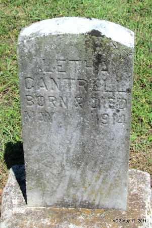 CANTRELL, LETHA - Fulton County, Arkansas | LETHA CANTRELL - Arkansas Gravestone Photos