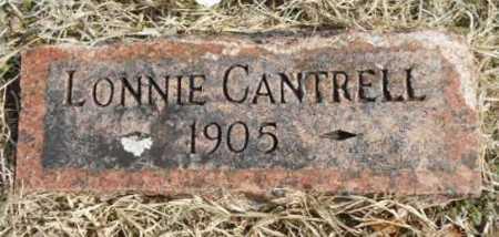 CANTRELL, LONNIE - Fulton County, Arkansas | LONNIE CANTRELL - Arkansas Gravestone Photos