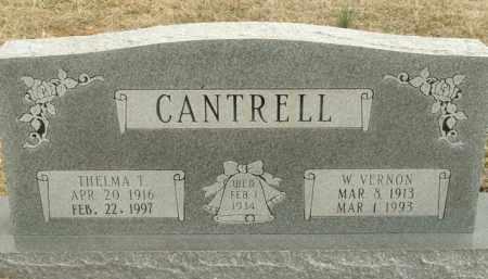 CANTRELL, W.VERNON - Fulton County, Arkansas | W.VERNON CANTRELL - Arkansas Gravestone Photos