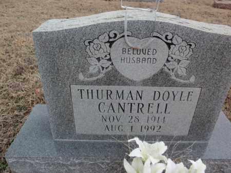 CANTRELL, THURMAN DOYLE - Fulton County, Arkansas | THURMAN DOYLE CANTRELL - Arkansas Gravestone Photos