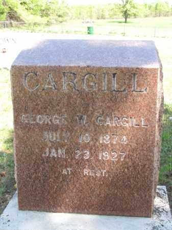 CARGILL, GEORGE W - Fulton County, Arkansas   GEORGE W CARGILL - Arkansas Gravestone Photos