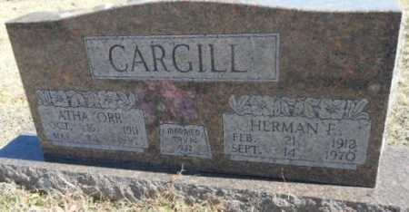 CARGILL, HERMAN ERVIN - Fulton County, Arkansas | HERMAN ERVIN CARGILL - Arkansas Gravestone Photos