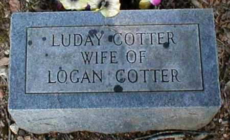 COTTER, LUDAY - Fulton County, Arkansas | LUDAY COTTER - Arkansas Gravestone Photos