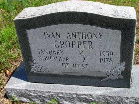 CROPPER, IVAN ANTHONY - Fulton County, Arkansas   IVAN ANTHONY CROPPER - Arkansas Gravestone Photos
