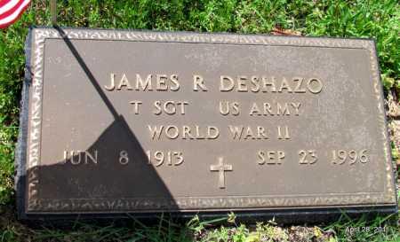 DE SHAZO  (VETERAN WWII), JAMES R - Fulton County, Arkansas | JAMES R DE SHAZO  (VETERAN WWII) - Arkansas Gravestone Photos
