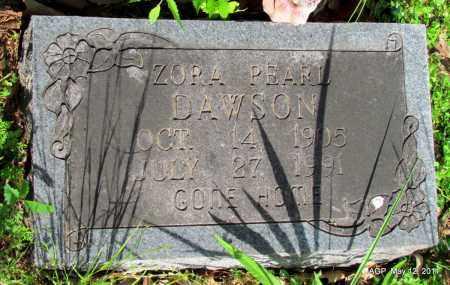 DAWSON, ZORA PEARL - Fulton County, Arkansas | ZORA PEARL DAWSON - Arkansas Gravestone Photos