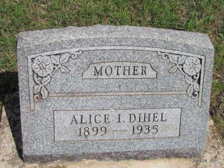 BRISON DIHEL, ALICE I - Fulton County, Arkansas | ALICE I BRISON DIHEL - Arkansas Gravestone Photos